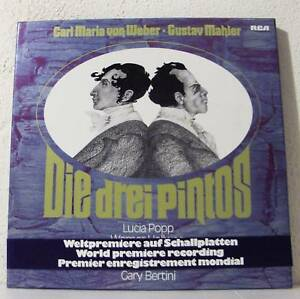 WEBER-MAHLER-Die-drei-Pintos-BERTINI-L-POPP-GERMANY-3LP-box-RCA-1976