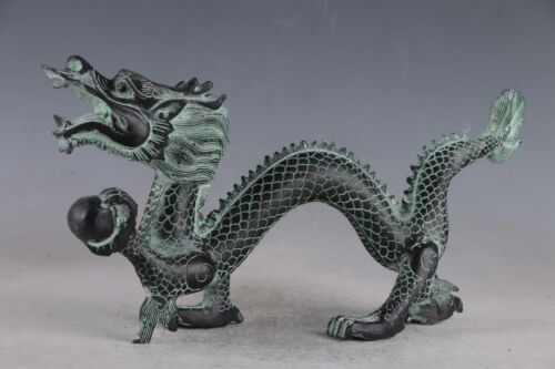 Chinese  Exquisite Bronze Dragon Statue