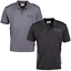 JCB-Workwear-Trade-Moisture-Wicking-Polyester-Polo-Shirt-Short-Sleeve-Black-Grey thumbnail 2
