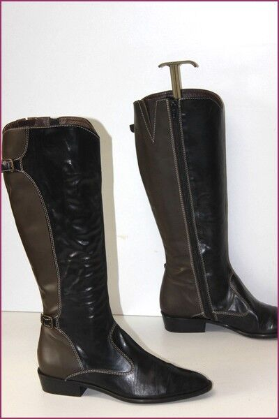 ACCATINO Boots All Leather Bicolour Semi Pointed T 37 BE