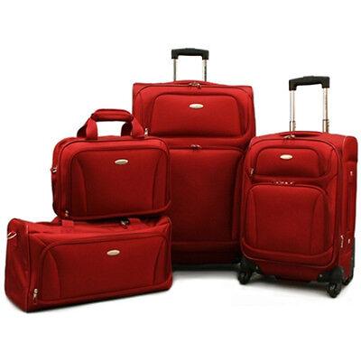 "Samsonite 4 Pc. Lightweight Set (20"" & 28"" Spinners, Duffel & Boarding) - Red"