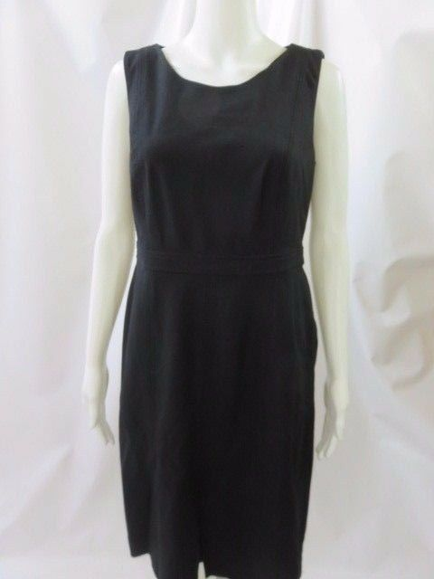 TALBOTS schwarz Sheath Classic Scoop Neck Dress NWT 109 Größe 6
