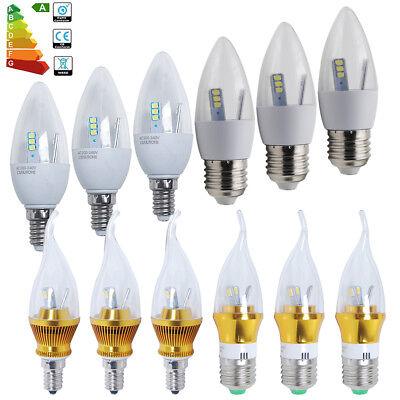 Warmweiß 6er E14 6W = 50W LED Kerze Lampe Kerze Form Glühbirne 440lm Kaltweiß
