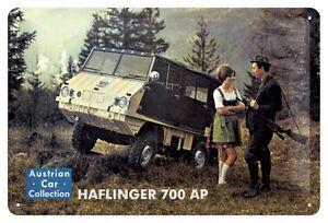 Blechschild Puch Haflinger 700 AP - 20 x 30 cm - mit Motivprägung