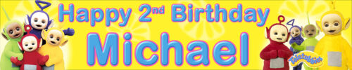 Teletubbies personalised birthday banner