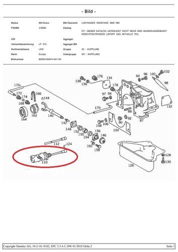 Kupplungsnehmerzylinder  Mercedes-Benz Dusseldorfer LPL LPK Duedo LP LPO