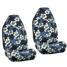 Item 2 New Blue Hawaiian Flowers Hibiscus Floral Print Car Front Bucket Seat Covers