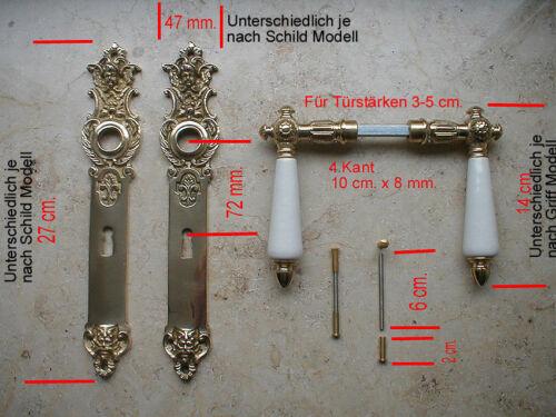 Prunkgriffe BB 72 Antik Nickel Langschild Türgriffe Türklinken Jugendstil S37-1N