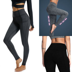Women-Gym-Sports-Yoga-Workout-Leggings-Fitness-Long-Pant-Trousers-With-Pocket-JF