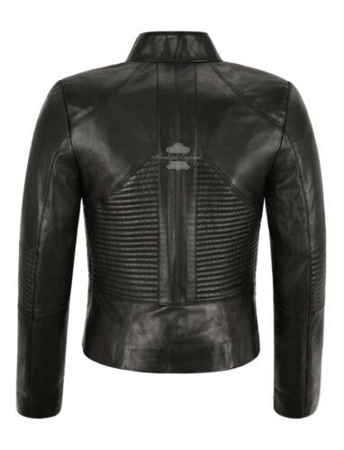 SUPREME Women Jacket Black Casual Cool Flight Coat Genuine Leather Jacket 011