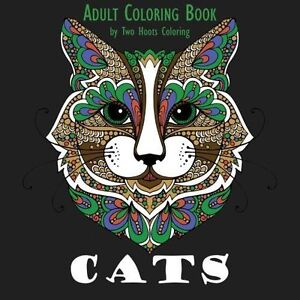 Animal Coloring Book Adult Designs Cats Creative Art Relaxing Fun
