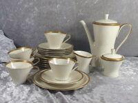 Zeh Scherzer Elfenbein Porzellan Kaffeeservice Form 810 5 Personen 20-tlg 60er