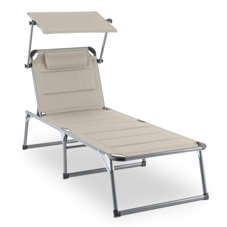 [OCCASION] Transat chaise longue jardin dossier réglable coussin pare-soleil bai