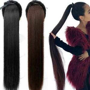 85cm-Super-Long-Straight-Clip-In-Tail-False-Hair-Ponytail-Hairpiece-Pony-Tail