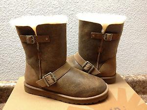 ugg classic short dylyn bomber jacket chestnut boot us 11 eu 42 rh ebay com