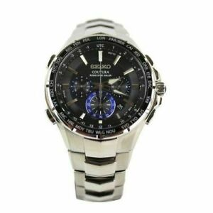 Ubrugte Seiko Coutura SSG009 Stainless Steel Radio Sync Solar Men's Watch RS-74