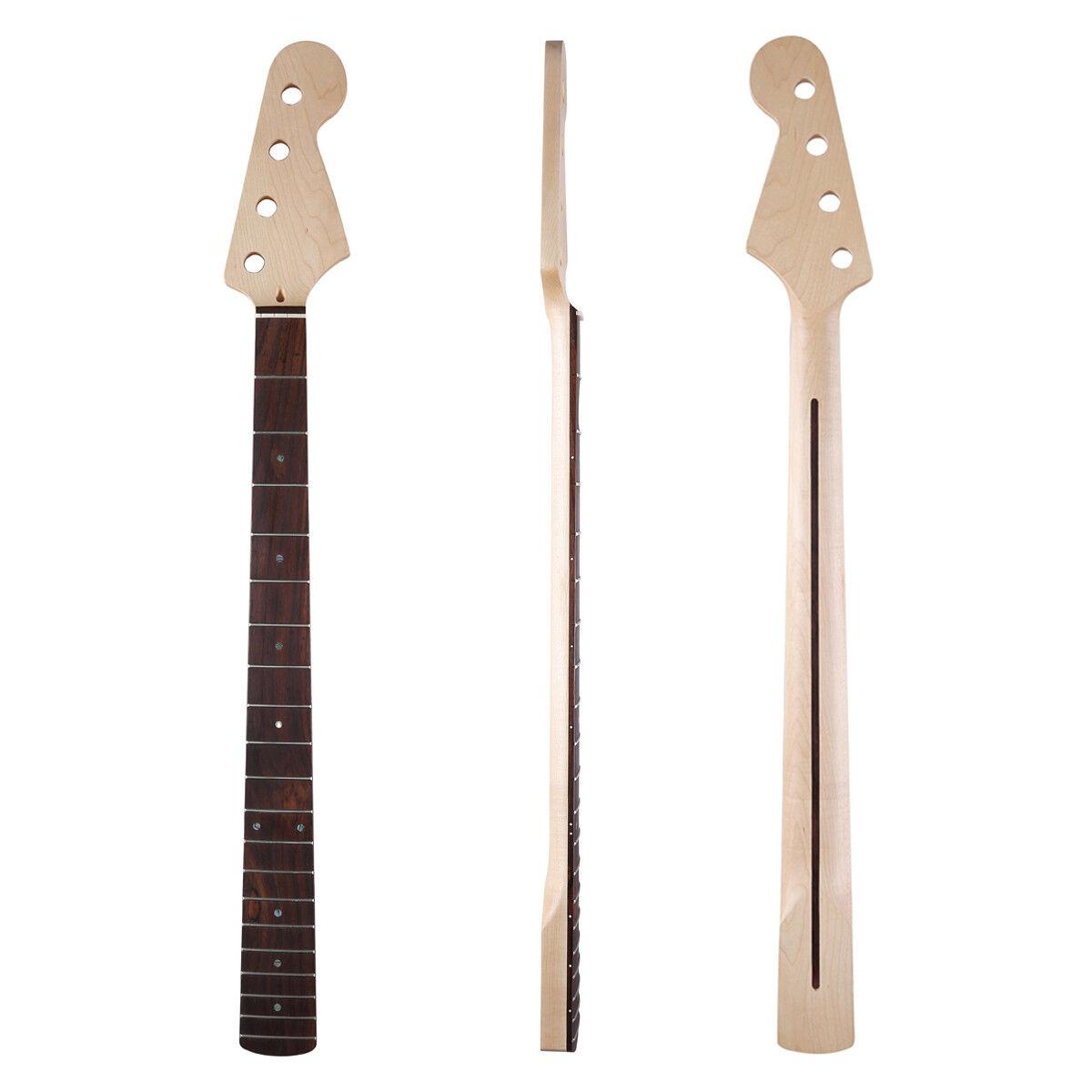 20 Fret Glossy Maple 4 Saiter J Bassgitarre Hals für Jazz Bass