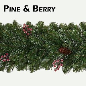 9FT-2-7M-Pine-cone-and-Frosted-Berry-Christmas-Garland-Xmas-Wedding-Decoration