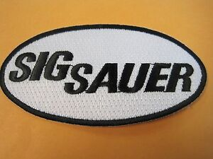 Details about SIG SAUER FIREARMS VEST PATCH 2 X 4 INCH SEW ON GUN PATCH  100% EMBROIDERY LOOK!!