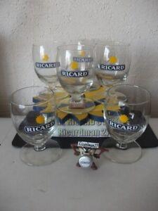 X RICARD  lot de 6 verres ballon 17 cl NMPP  RICARD