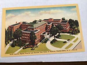 Details about Baptist Hospital Bowman Gray School of Medicine Winston-Salem  NC 1940s Postcard