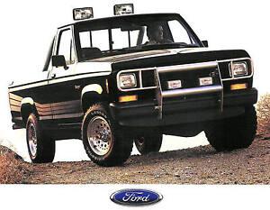 1988 Ford Ranger Pickup Brochure Ranger Xlt Ranger Sxt Ranger 4x4 Pickup Ebay