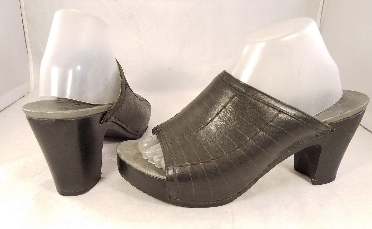 DANSKO WOMAN schuhe SANDALS SLIDES CLOGS MULE schwarz LEATHER Größe Größe Größe 41 10 29c238