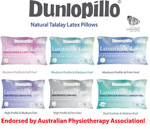 Dual Pillows High Firm Classic Medium Dunlopillo Luxurious Talalay Latex Soft