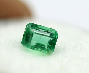 5 x 4 mm Natural Green Emerald Octagon Faceted Cut 0.81 Ct Zambia Mined Gemstone