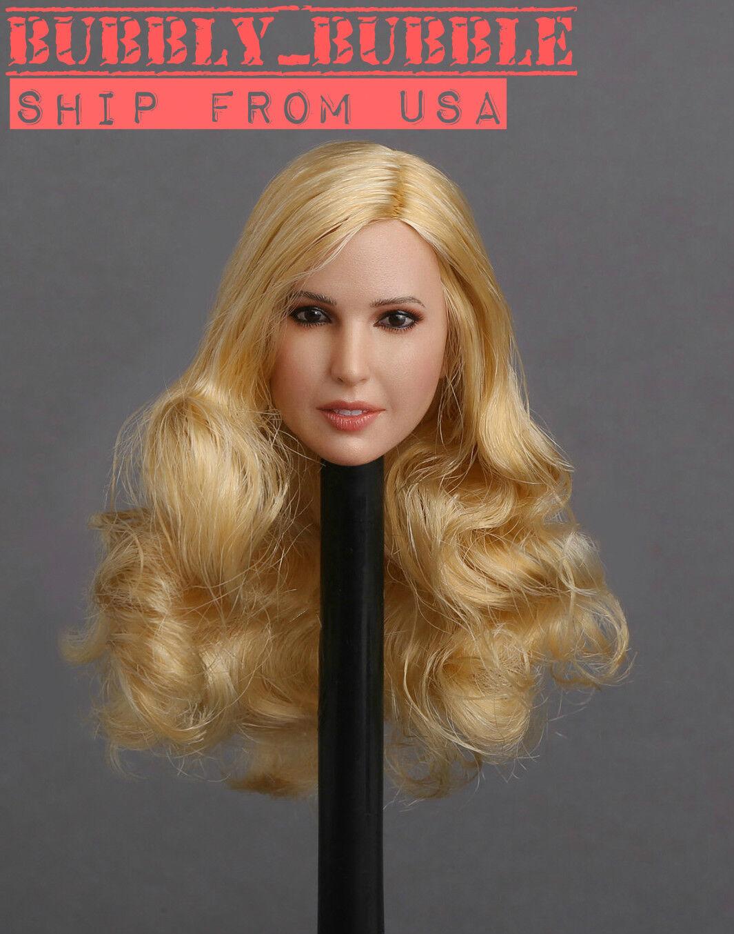 1 6 Female Head Sculpt GC018 A Blonde Hair For 12  PHICEN Hot Toys Figure  USA