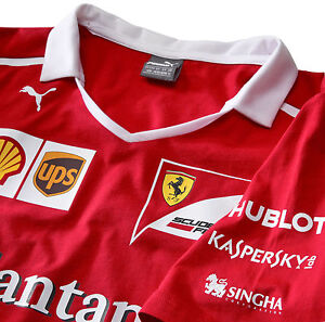 c7fd3cd5b7f811 AUTHENTIC PUMA SCUDERIA FERRARI F1 TEAM 2017 T-SHIRT 762182 01 ...