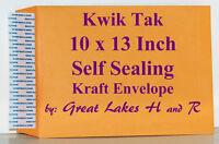 40 Kwik Tak® Catalog Style Golden Kraft Peel N Stick 10 X 13 Inch Envelopes