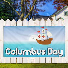 Vinyl Banner Sign Columbus Day Lifestyle Outdoor Marketing Advertising Blue