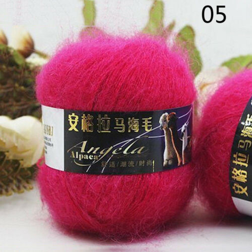 Lot of 20 Colors Knitting Crochet 100/% Mohair Thread Yarn Strong Making Yarn 50g