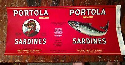 Sardine can label 1951 J EL CARMEL Monterey California USA WOOD SAN FRANCISCO