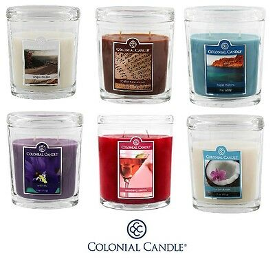 NEW Colonial Candle 9oz Glass Jar Fresh, Fruity, Musky Fragrances
