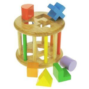 Lernspielzeug Baby Hell Bigjigs Toys Bb005 Sortierspiel-trommel Neu Und Ovp Ein Unbestimmt Neues Erscheinungsbild GewäHrleisten