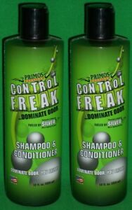 Pack-of-2-Primos-Control-Freak-Dominate-Odor-Shampoo-and-Conditioner-12-fl-oz