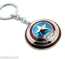 New Captain America Shield Metal Keychain The Avenger Marvel Super Hero Keyring