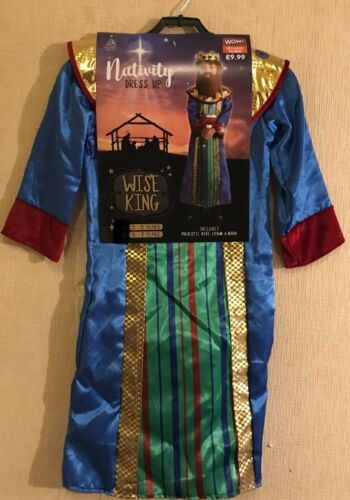 Nativité-Wise King-Dressing Up Costume 5-7 Neuf