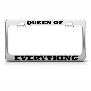 QUEEN B BEE BEES Black Metal Heavy Duty License Plate Frame Tag Border