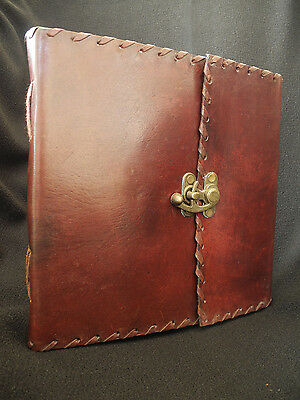 Large Handmade Leather Sketchbook Diary Journal  - Pages Unlined Handmade Paper