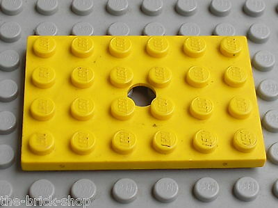Plaque trouée LEGO vintage red Plate with hole 4x6 ref 709 //Set 310 332 374 337