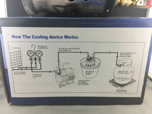 AIR CONDITIONER /& COMMERCIAL  FRIDGE REFRIGERANT COOLING DEVICE  WK-RC225