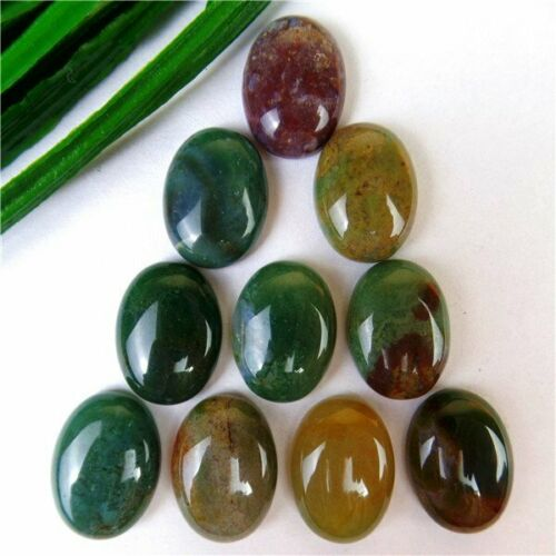 10Pcs Nice Various Natural Stone Mix-and-match Oval Cab Cabochon 16*12*5mm B9642