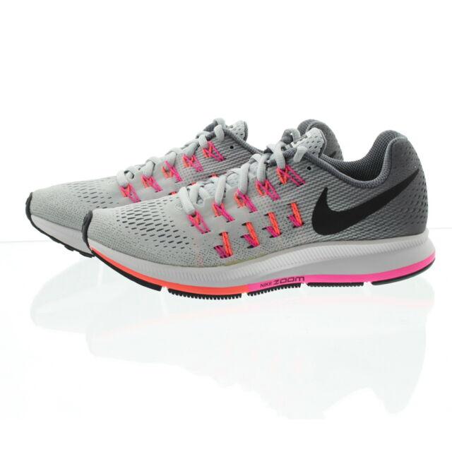 4acb07442d7d WMNS Nike Air Zoom Pegasus 33 Grey Pink Womens Running Shoes ...