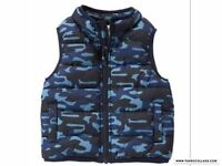 Gymboree Grizzly Ridge Camo Boys Vests Sizes 6-12, 12-24 Mths