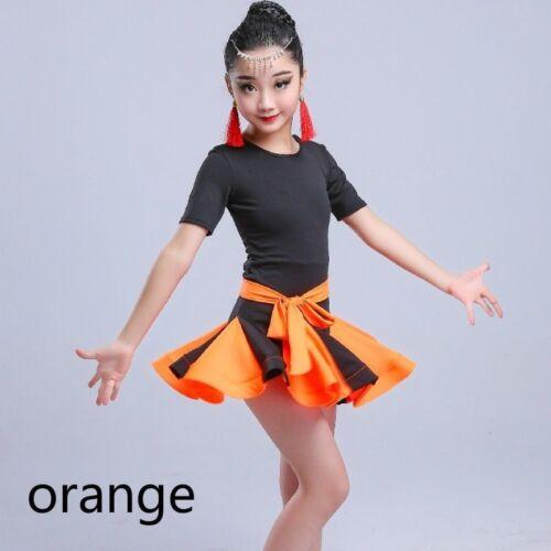 Bambini ragazze balletto latino salsa danza Abbigliamento Abito Performance Costumi