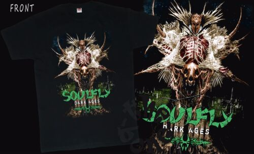 American metal band SIZES:S to 6XL T/_shirt SOULFLY Dark Ages