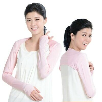 Women Arm Sleeve Shrug Sun Protection Anti-UV Cooling Shawl Cuff Outdoor Cycling